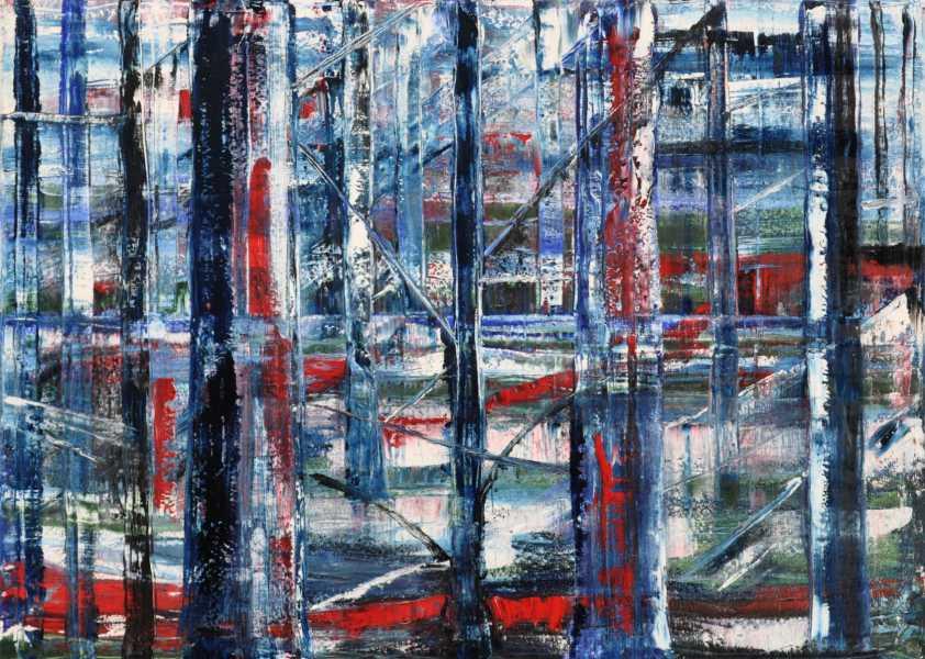 Teutoburger Wald bei Nacht, Gemälde