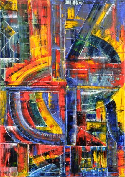 Tunnelexplosion, Gemälde